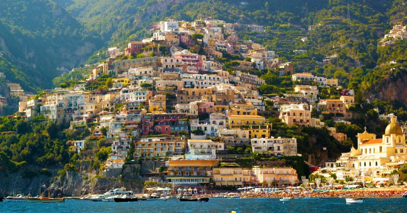 Positano, famous and beautiful town on the Amalfi Coast, near Naples and Sorrento, Italy.